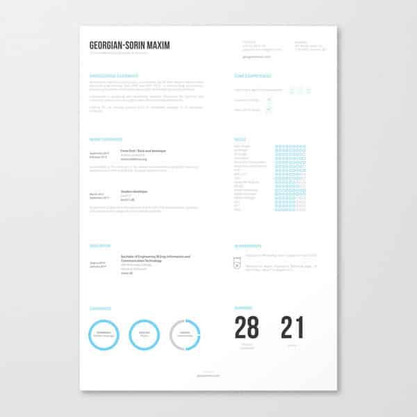 this template is refreshing and even somewhat relaxing to look at - Totally Free Resume Template