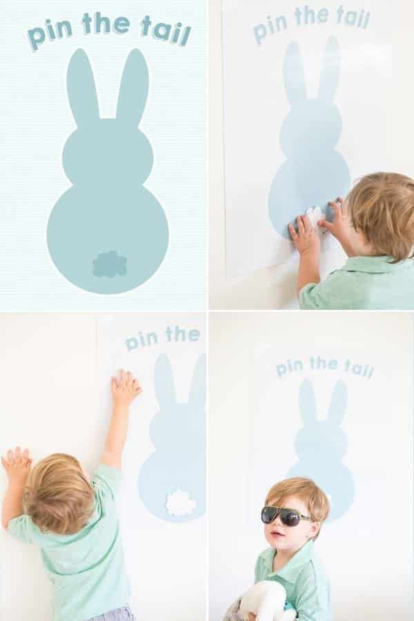 Pin the tail on the easter bunny.