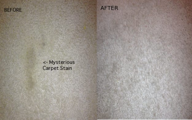 2. Steam clean mystery stains out of your carpets using an iron.