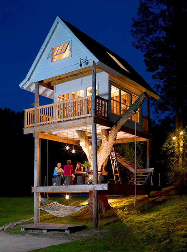 If you're doing a HUGE remodel, ask your contractor about tacking on a treehouse or guesthouse.