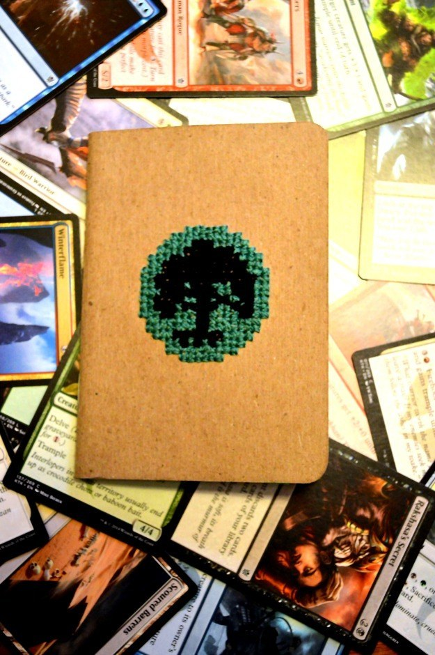 Embroidered Magic The Gathering Notebook