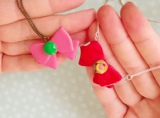 Sailor Moon Bow Necklace