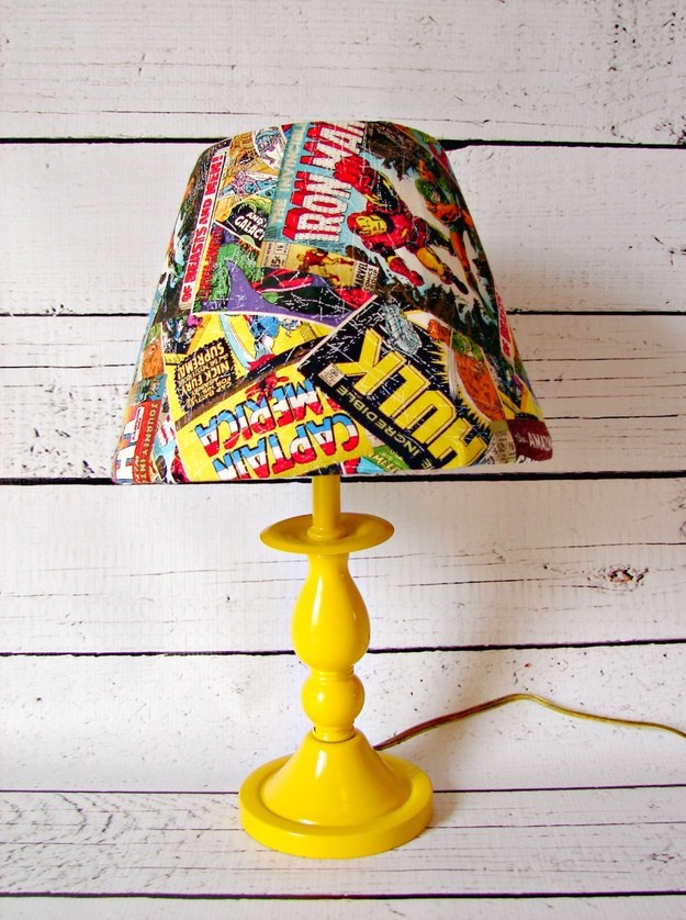Comic Book Lamp