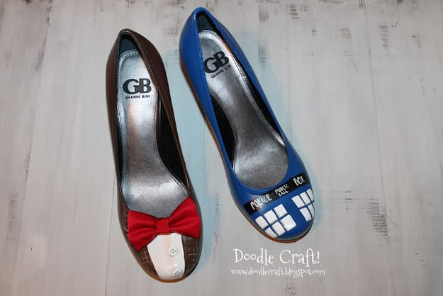 Doctor Who-Inspired Painted Heels