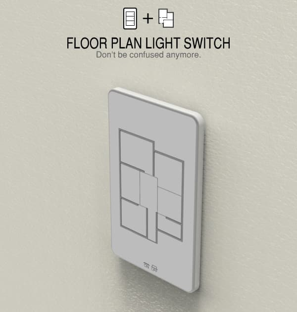 The ultimate floor-plan light switch for lazy people with big houses.