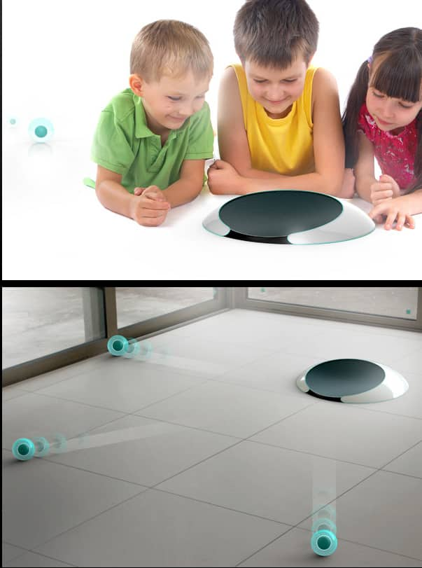 "Roomba 2.0: ""jell"" balls that disperse and do the cleaning for you."
