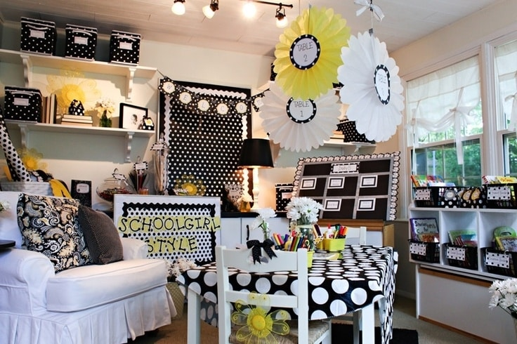 Classroom Design Ideas classroom decorating themes architecture design with on uncategorized A Polka Dot And Daisies Themed Classroom
