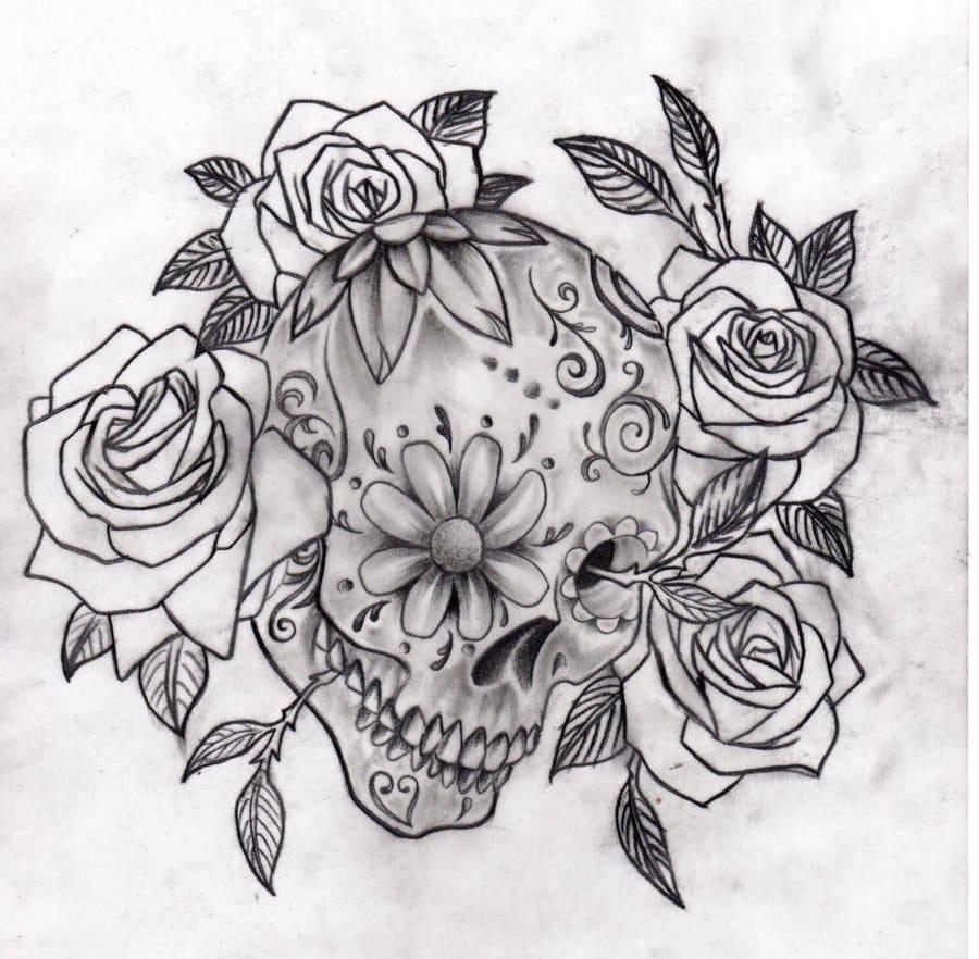 33 crazily gorgeous sugar skull tattoos designbump