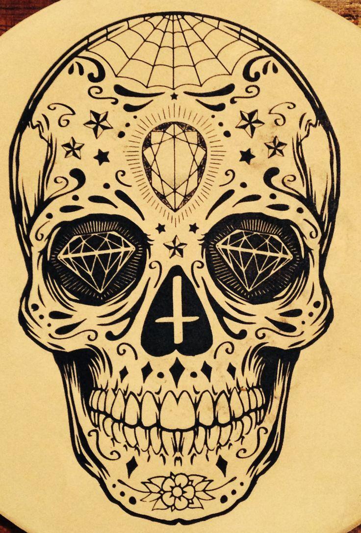 33 crazily gorgeous sugar skull tattoos designbump. Black Bedroom Furniture Sets. Home Design Ideas