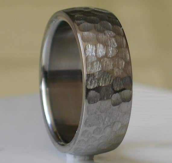 Handcrafted Tungsten Band