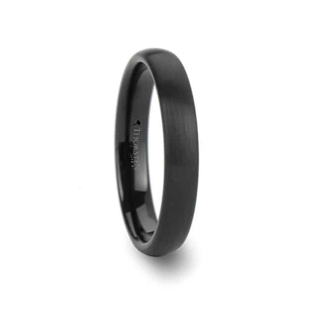Simple Black Tungsten Band