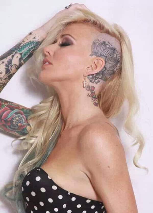 Head Tattoo Woman