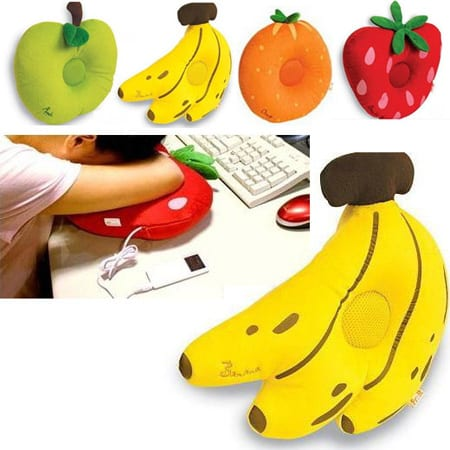 Fruit iPod Speaker Pillows These plush fruit speakers dont just play your  tunes, they give