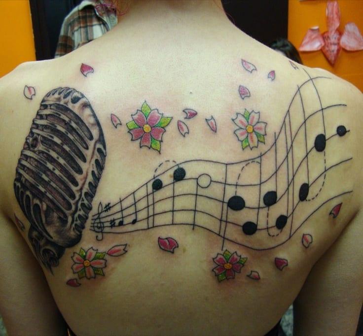 32 Beautiful Music Note Tattoos -DesignBump