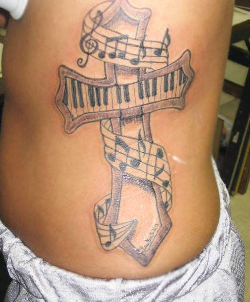 12 Awesome Décor Ideas For A Headstart On The Steampunk: 32 Beautiful Music Note Tattoos -DesignBump