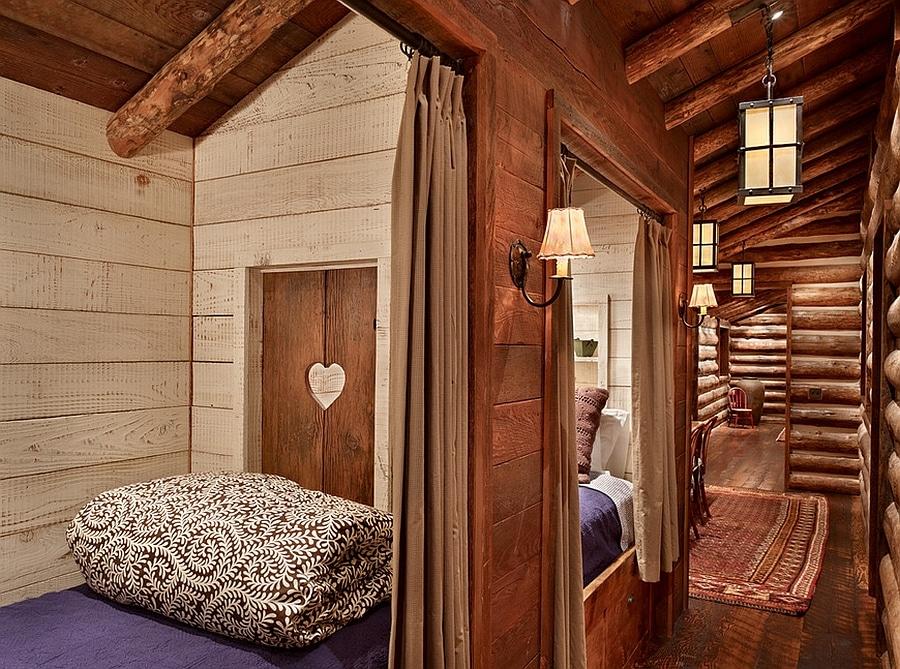 rustic log cabin interiors