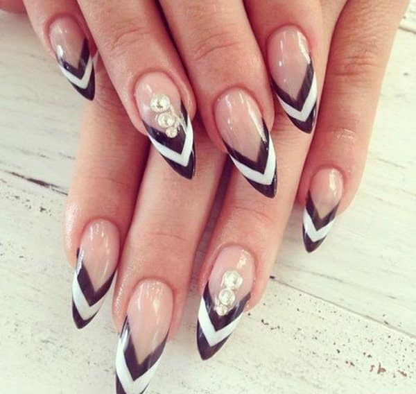 50 Crazily Cool Black And White Nail Art -DesignBump