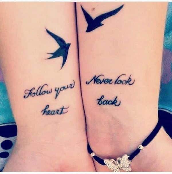 Lost Friend Tattoos Quotes Google Search: 21 Totally Cute Best Friend Tattoos -DesignBump