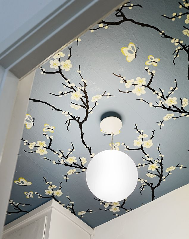 gorgeous japanese style ceiling wallpaper idea - Wallpaper Design Ideas