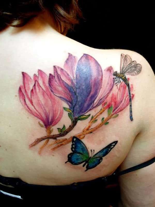 Pretty Colorful Flower Tattoos: 60 Gorgeous Flower Tattoo Ideas -DesignBump