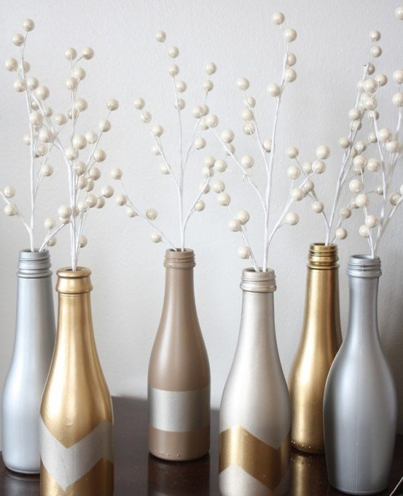 diy home decor ideas with upcycle bottles
