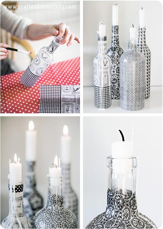 15 DIY Home Decor Ideas Using Upcycle Bottles -DesignBump