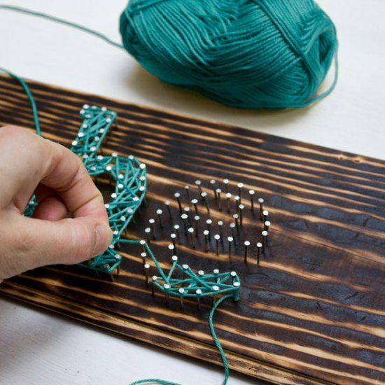 Make this DIY String Art Typography Sign