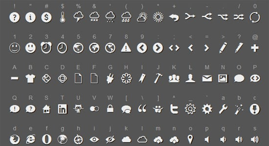 free icon fonts 05 - 18 BEST FREE ICON FONTS FOR GRAPHIC DESIGN PROJECTS