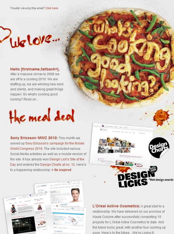 70 most creative email newsletter designs designbump