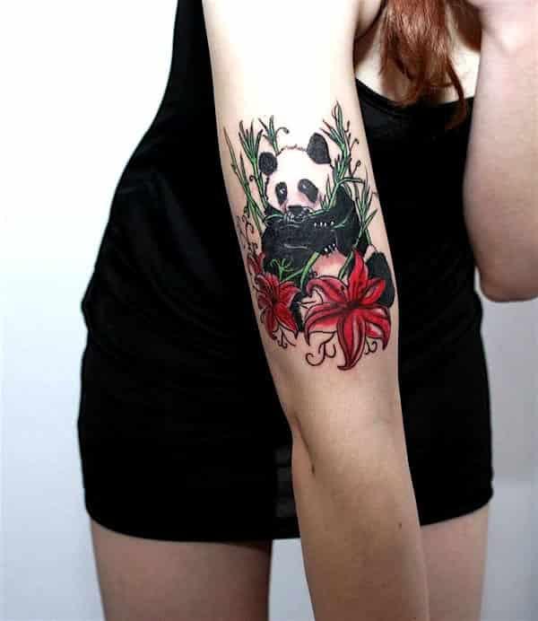 22 totally cute panda tattoos designbump. Black Bedroom Furniture Sets. Home Design Ideas