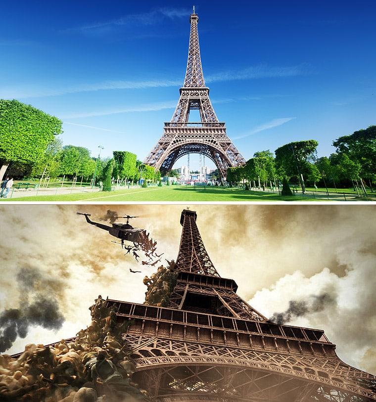 Eiffel Tower Zombie Apocoplayse