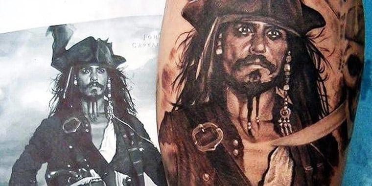 Jack Sparrow Tattoo Design