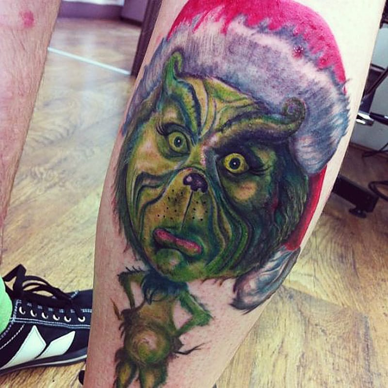 Grinch Tattoo Design