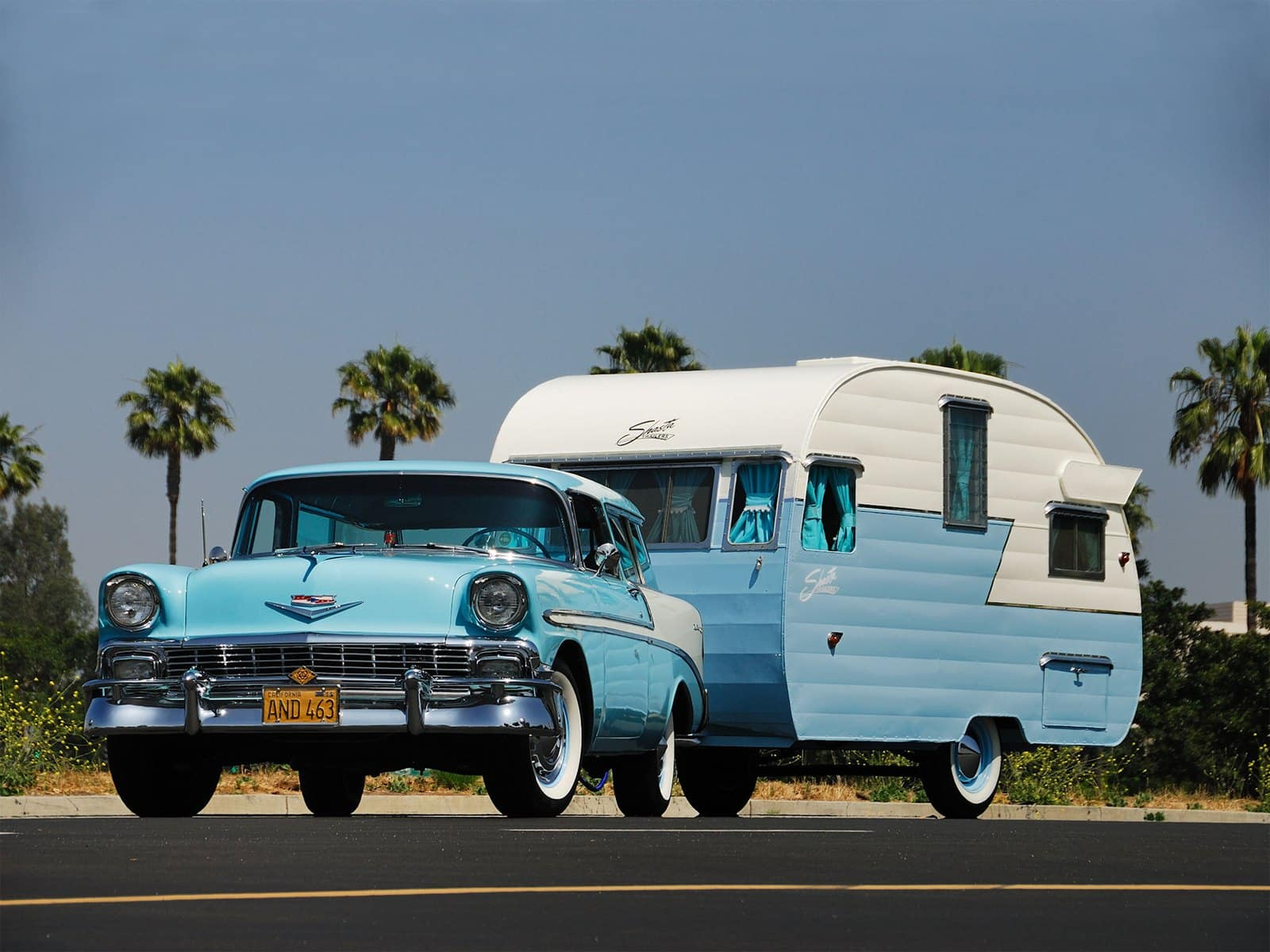 1956 Chevrolet Bel Air Nomad Retro Stationwagon