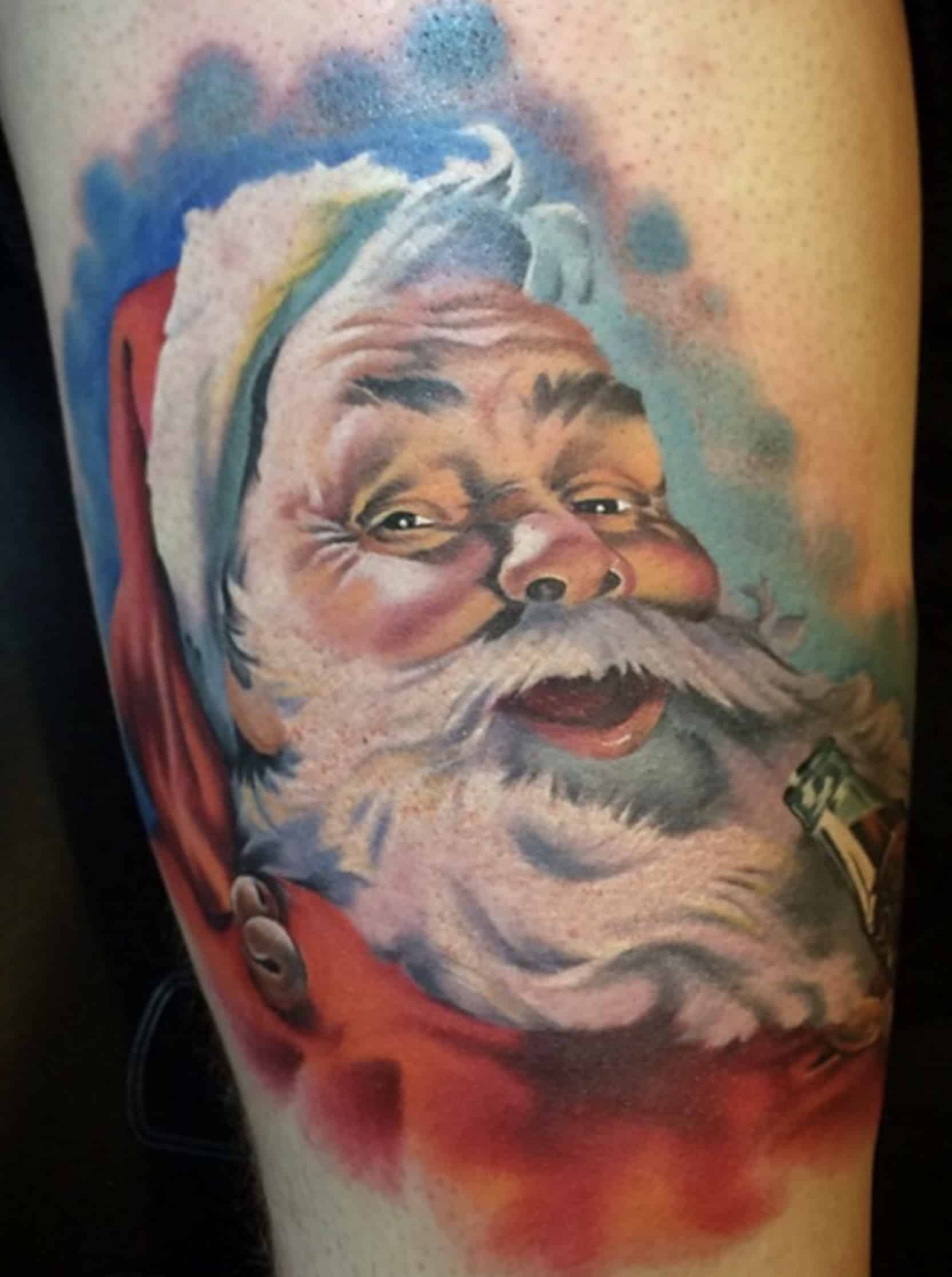 Coca Cola Santa Tattoo