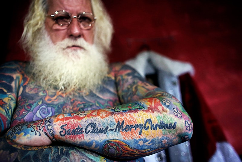 Bad Ass Santa Tats
