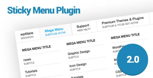 Sticky Menu System Plugins Available in WordPress : WordPress Menu Plugins