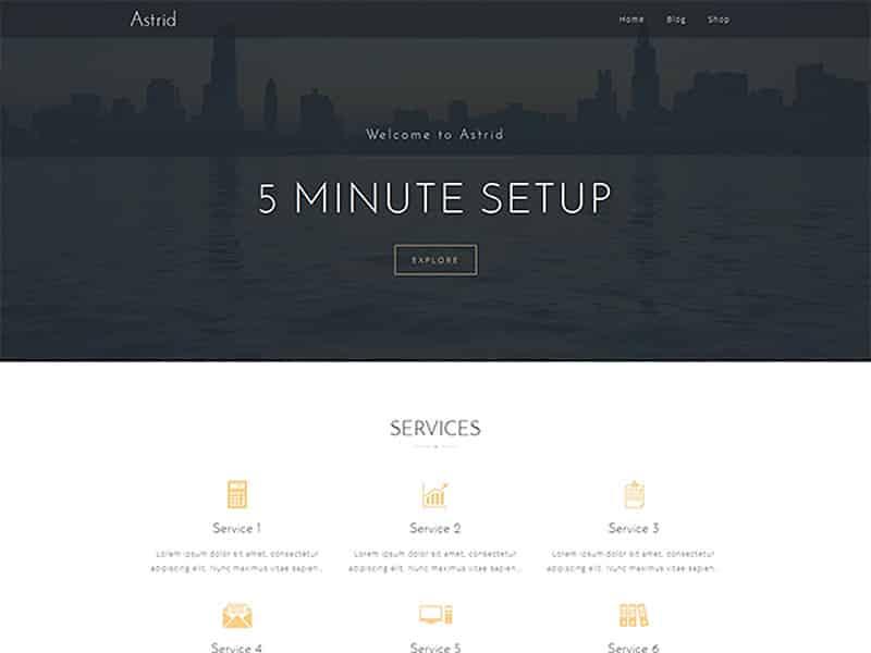 Astrid Free WordPress Theme 2017
