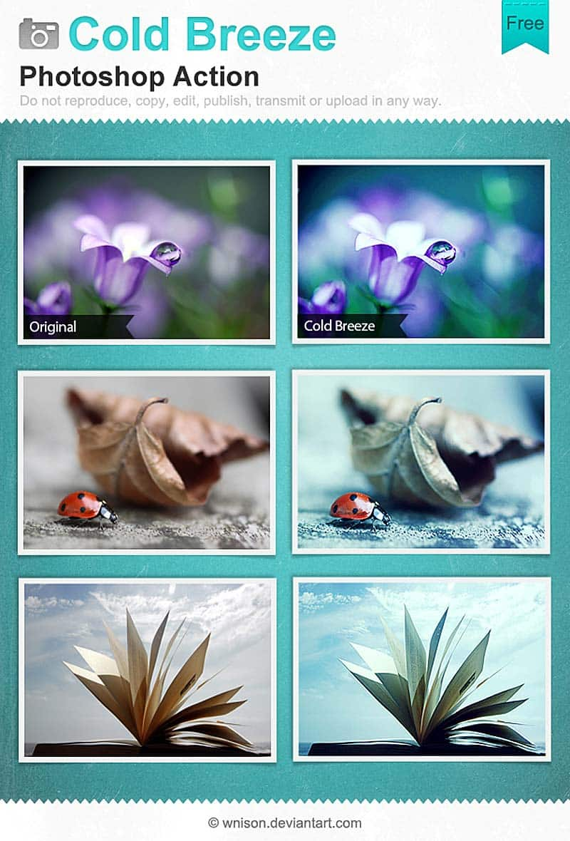 Coldbreeze filters pack for Instagram