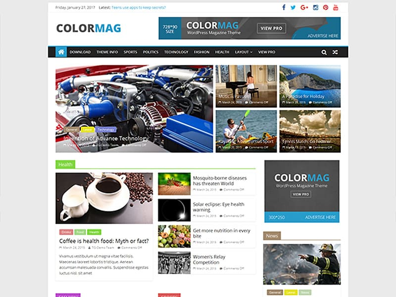 ColorMag Free WordPress Theme 2017