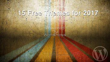15 Free WordPress Themes 2017