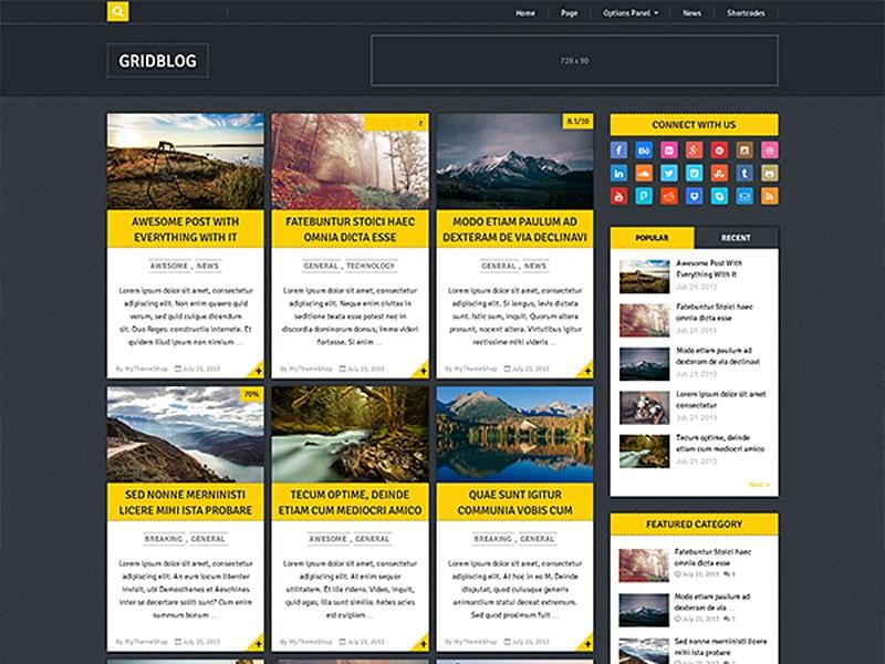 GridBlog Free WordPress Theme 2017