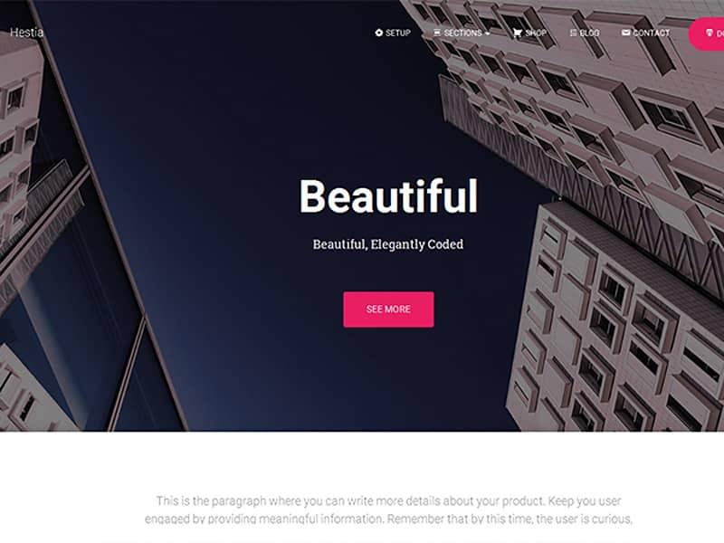 Hestia Free WordPress Theme 2017