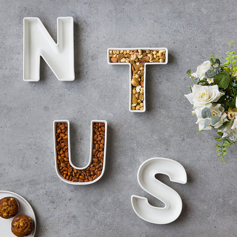 Ceramic Alphabet Nut Dishes