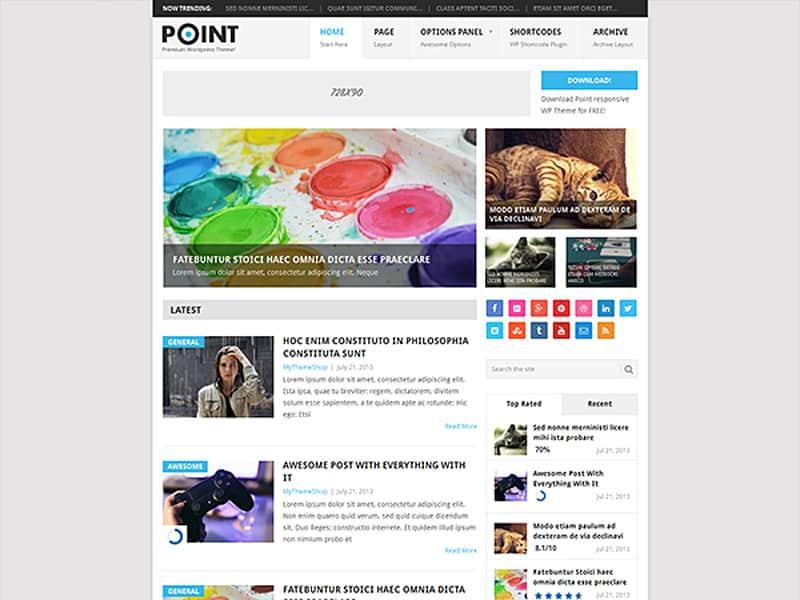 Point Free WordPress Theme 2017