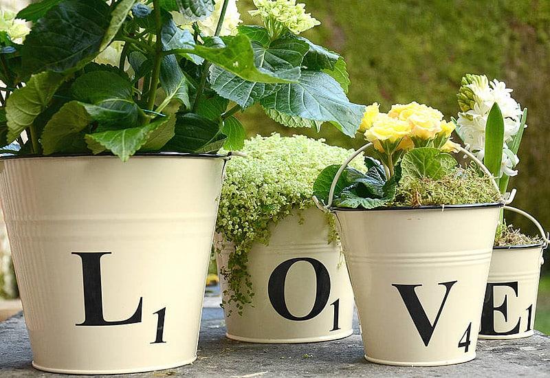 Scrabble Plant Pots