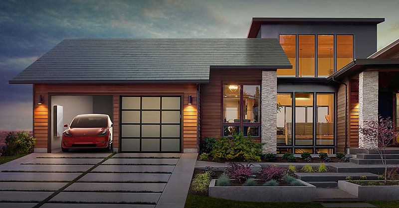 smart homes : Tesla Solar Roof