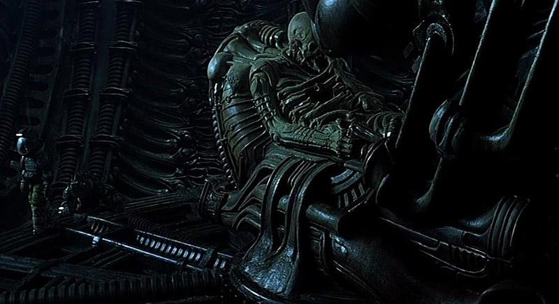The Space Jockey scene from Alien