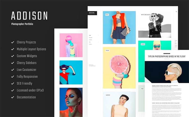 Addison Photography WordPress Theme