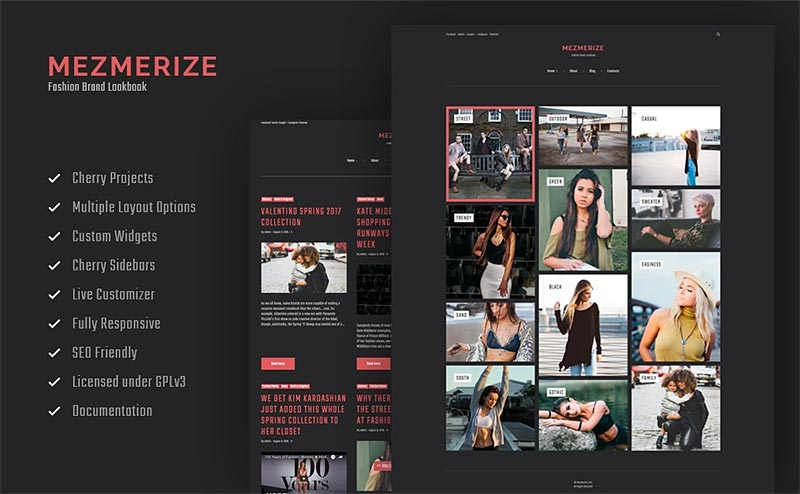 Mezmerize - Fashion Brand Lookbook WordPress Theme